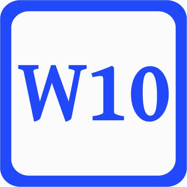 S2 - Standartweite W10