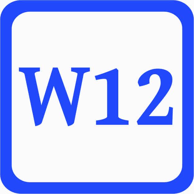 S1 - Sonderweite W12