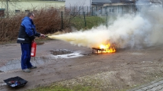 Feuerlöschtraining