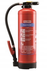 Gloria - STAR-LINE - WH 6 STAR - Hochleistungs-Wasser-Feuerlöscher mit Wandhalter - DIN EN 3, GS, CE