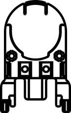 3716 Schuberth mit Doppelstecktasche - Helmadapter